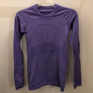 Lululemon purple LS RunSwiftly, sz 4, 71309